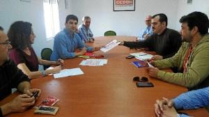 Daniel Hernando con CCOO 13 noviembre