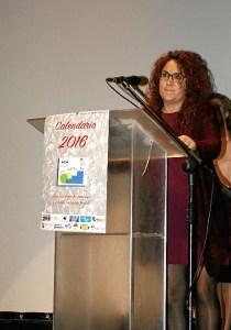 Nerea Ortega dirige al publico asistente unas palabras