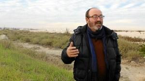 Pedro Jimenez en las balsas de fosfoyesos