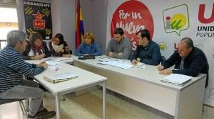 UP-IU con Red Andaluza contra la Pobreza