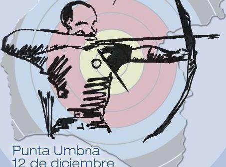 Cartel del torneo de tiro con arco en Punta Umbría.
