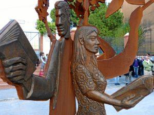 detalle de la escultura
