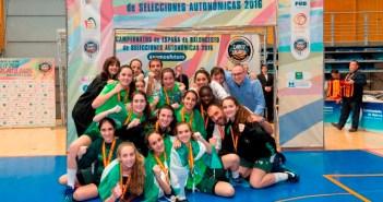 Andalucía, medalla de plata en el Campeonato de España cadete infantil femenino de baloncesto.