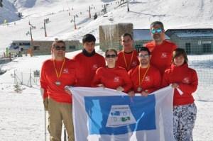 Representantes del CODA en el Campeonato de España de esquí alpino.