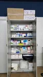 Material médico entregado a la plantilla por #Pormirecre.