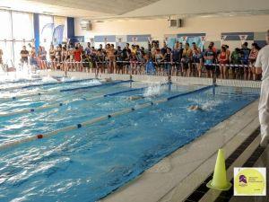 Encuentro amistoso de natación Máster de Huelva.