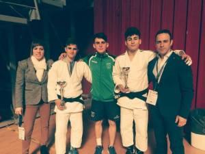 Judocas del Huelva TSV en el Campeonato de España junior.