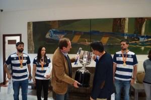 Recepción al Recreativo IES La Orden en la Diputación Provincial.