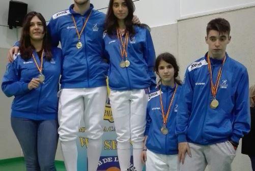 Tiradores del Club Esgrima Huelva.