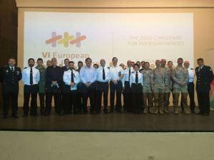 Presentación de los Juegos Europeos de Policías y Bomberos ante la Armada Española.