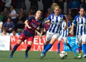 Patri Gavira ante el FC Barcelona.