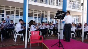 Concierto de la banda Nuestra Señora de La Cinta en el Real Club Marítimo de Huelva.