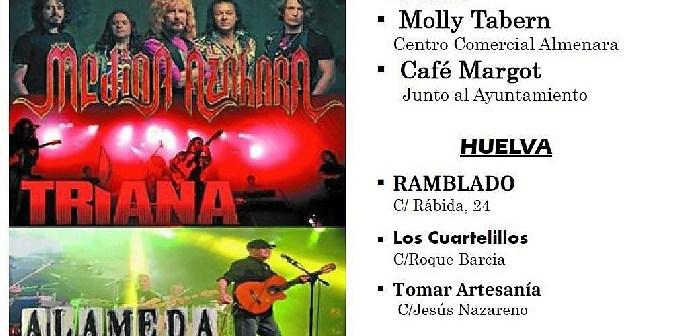 Festejos Rock Andaluz Cartel Puntos de Venta