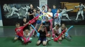 Fin de fiesta del Club Esgrima Huelva.