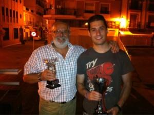 Javier Rodríguez Walls y Javier Ledesma, cuerpo técnico del CDB Enrique Benítez.