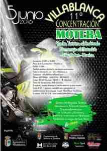 Cartel de la Vuelta turística en moto al Andévalo.