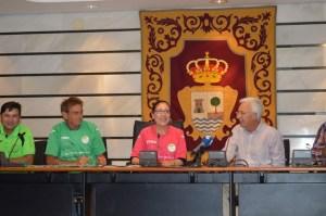Recepción al Camping La Bota en el Ayuntamiento de Punta Umbría.