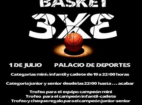 Cartel de la Noche del Basket del Ciudad de Huelva.