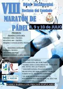 Cartel del maraton de pádel en Rociana del Condado.