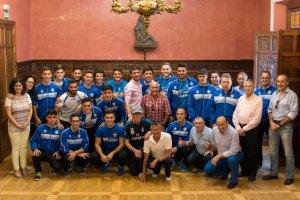 Recepción al CD Canela en el Ayuntamiento de Ayamonte.