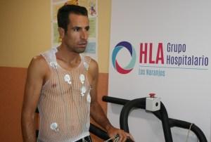 Emilio Martín, pasando el reconocimiento médico.