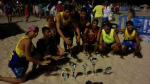 Equipo infantil de balonmano-playa del PAN Moguer.