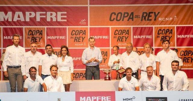 Entrega de premios de la Copa del Rey de vela.