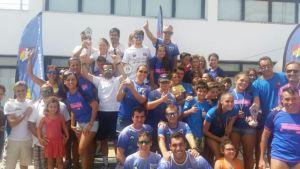 CD Máster Huelva en la Travesía a nado del río Guadiana.