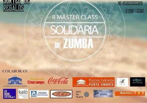 Cartel de la Master Class de zumba en El Portil.