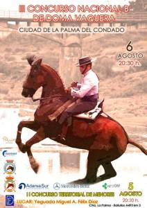 Cartel del concurso de Doma Vaquera en La Palma del Condado.