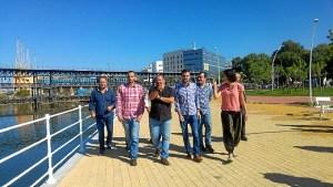 Antonio Maillo y diputados en Huelva (2)