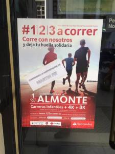 Cartel de la Carrera # 1, 2,3 a correr en Almonte.
