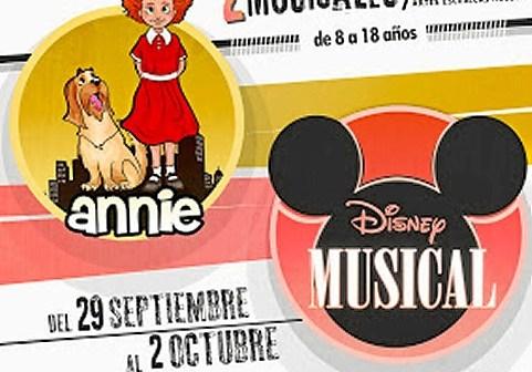 Cartel casting Annie y Musical Disney