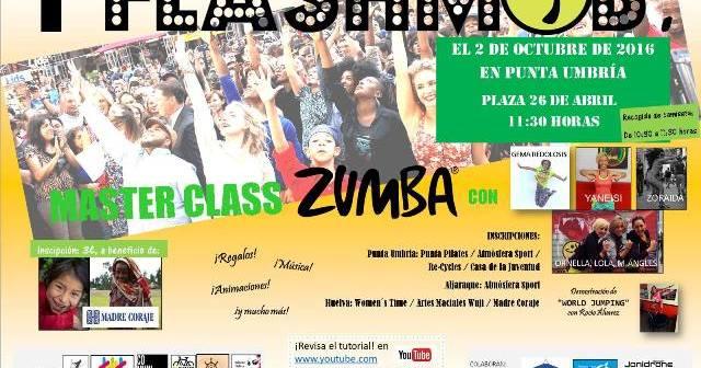 Cartel del flashmob en Punta Umbría.