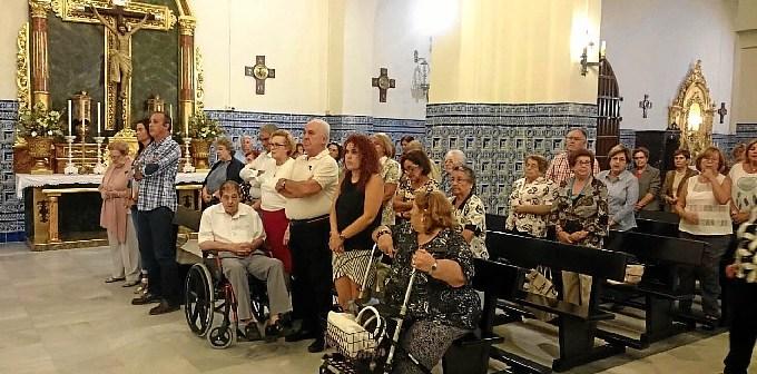 Nerea Ortega, concejala de Discapacidad, en la Misa de ASOIFAL