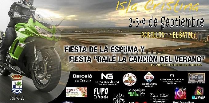 Un mar de luz en moto Isla Cristina