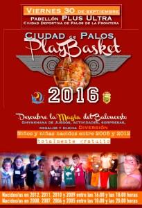 Cartel del Playbasket en Palos de La Frontera.