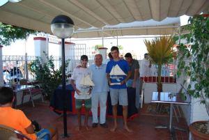 Ganadores de la Copa Andaluza de 420 en Punta Umbría.