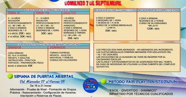 Cartel de la escuela de invierno en El Portil.