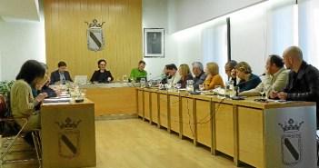 Imagen de archivo de un pleno en el Ayuntamiento olontense.