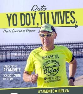 Cartel del reto solidario Fundación 'Donando Vidas'.