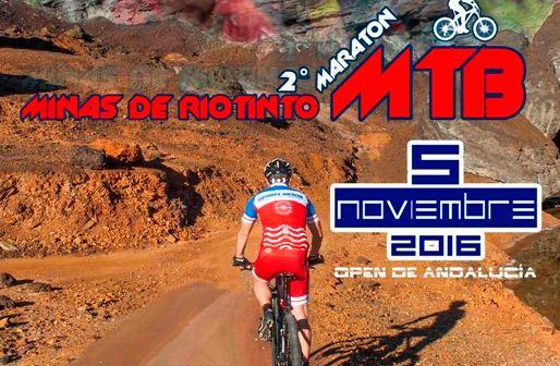 Cartel del Open de Andalucía de BTT en Riotinto.