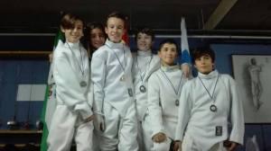 Jóvenes tiradores del Club Esgrima de Huelva.