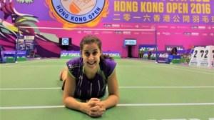 Carolina Marín. en el Abierto de Hong Kong.