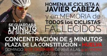 Concentración por los ciclistas fallecidos en carretera.