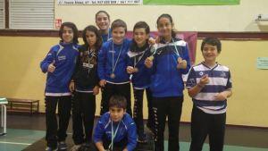 Jóvenes jugadores del Recreativo IES La Orden.