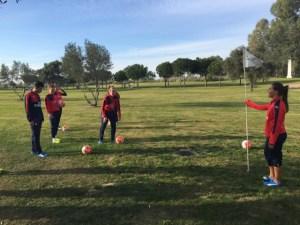 Torneo de footgolf en Isla Canela.