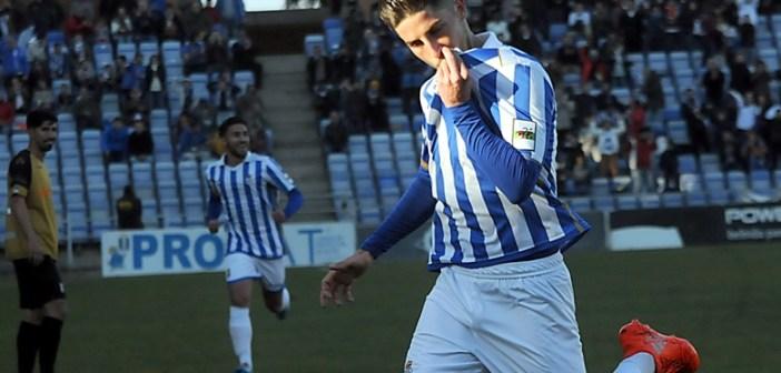 Antonio Domínguez, autor de los dos goles albiazules.