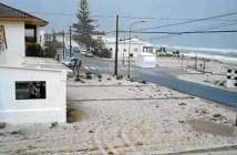 Nieve en la playa de Islantilla (Foto: @COPE_Huelva)