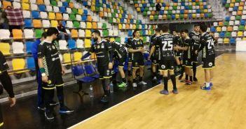 Jugadores del PAN Moguer en Ciudad Real.